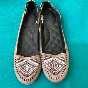 Reef Native Bead Flat Slip on Shoe with Beaded Toe